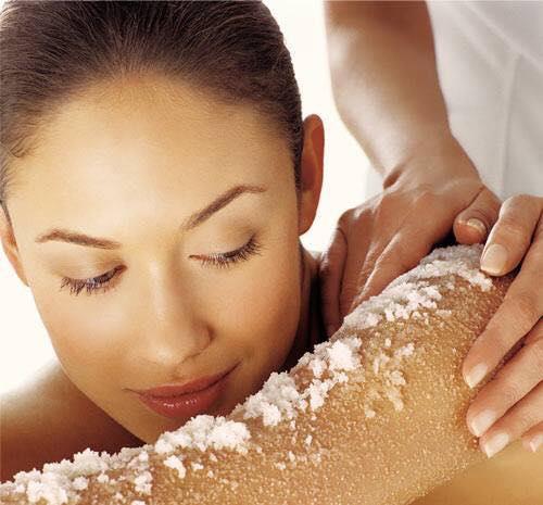 Công dụng của muối tẩy da chết Utena Juicy salt milky body scrub