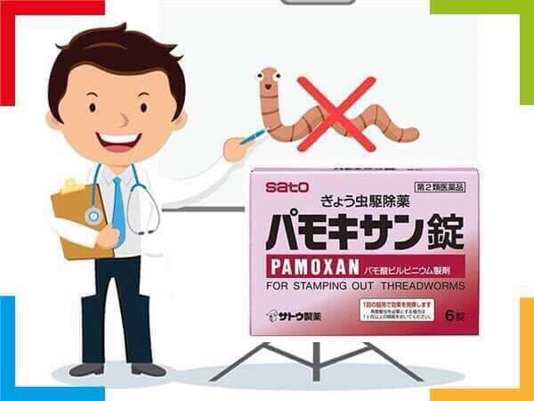 Công dụng của thuốc tẩy giun pamoxan sato: