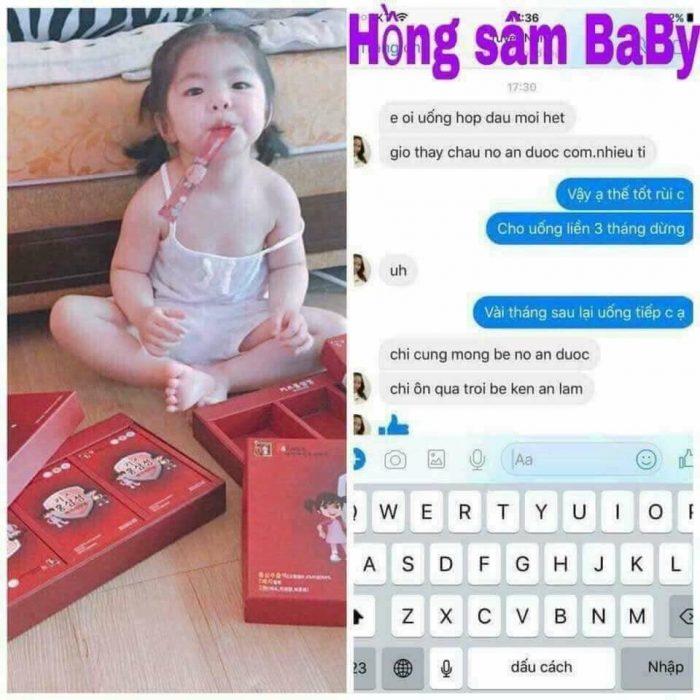 Review nước hồng sâm baby sanga Hàn Quốc