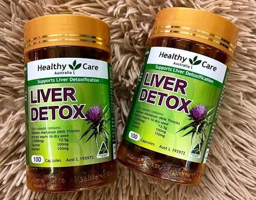 Cách sử dụng viên giải độc gan Healthy Care Liver Detox-2