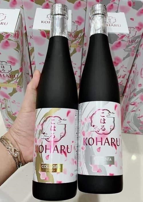 Nước uống đẹp da Koharu Collagen review-3