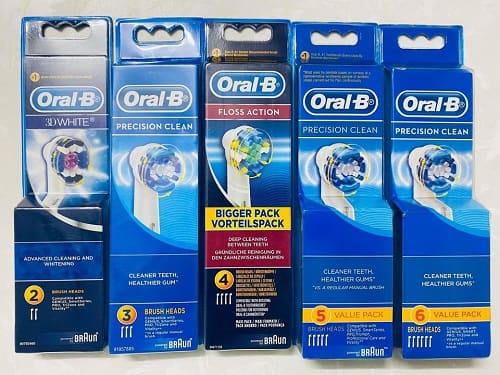Review set đầu bàn chải điện Oral-B Precision Clean-1