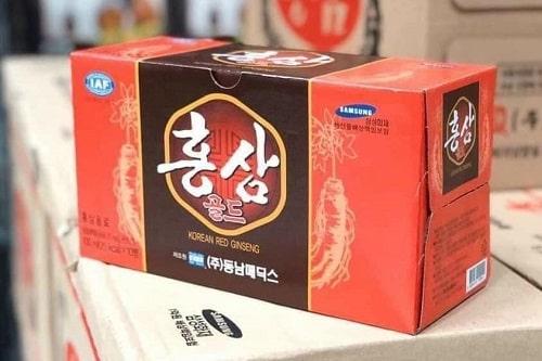 Nước uống hồng sâm Korean Red Ginseng review-5