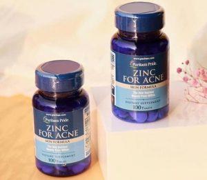 Cách sử dụng viên kẽm Zinc For Acne trị mụn nội tiết-1